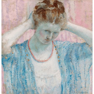 The Coral Necklace by Frederick Carl Frieseke For Sale