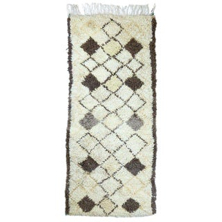 Vintage Mid-Century Moroccan Azilal Rug - 02'07 X 06'01 For Sale