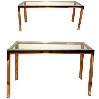 1970s Mid-Century Modern Zilli Console Tables - a Pair For Sale
