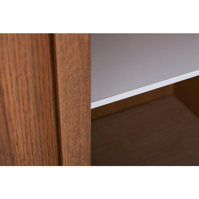 Brown Minimalist Natural Oak Bar Cabinet For Sale - Image 8 of 12