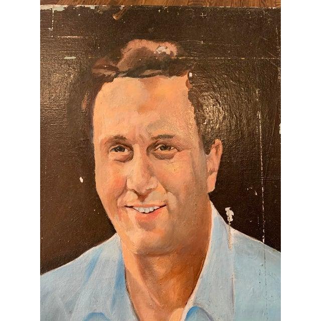 Vintage Mr. Man Oil Painting, Stranger Art For Sale In Philadelphia - Image 6 of 6