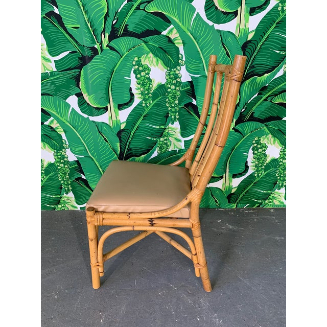 Boho Chic Bentwood Rattan Dining Chairs - Set of 6 For Sale - Image 3 of 8