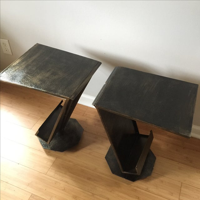 Art Deco Artist Bronze Patina Side Tables - A Pair - Image 7 of 7