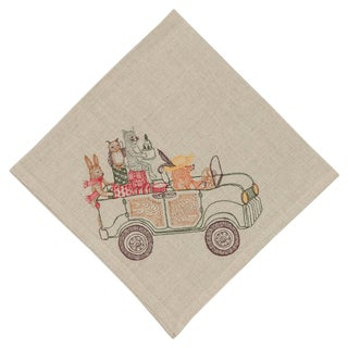 Modern Home for the Holidays Dinner Napkin For Sale
