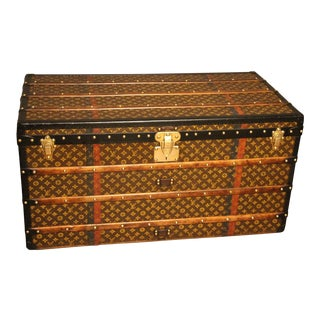 1930s Louis Vuitton Trunk in Monogram Canvas For Sale