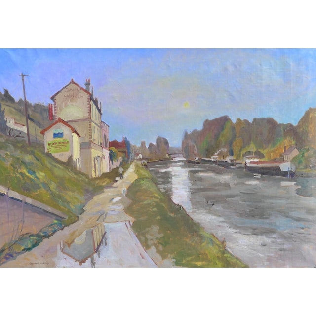 H. Curcuru French River Scene Painting - Image 4 of 4