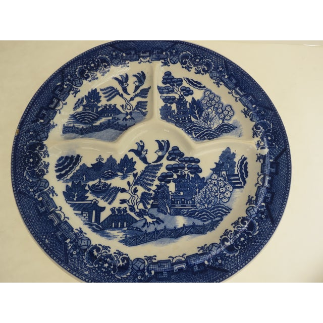 Blue Willow Grill Plates - Set of 4 - Image 5 of 8