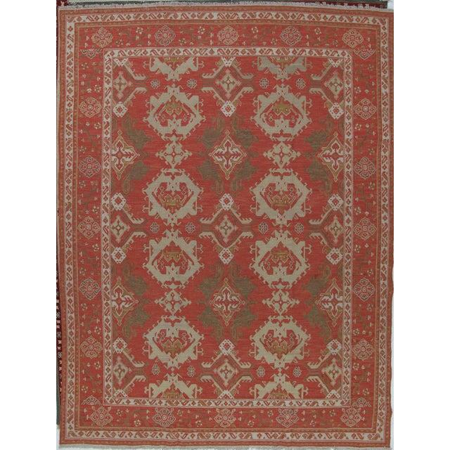 Soumak Design Hand Woven Wool Rug - 9' X 12' - Image 5 of 5