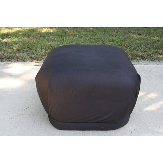 Vintage Karl Springer Style Soufflé Pouf/Ottoman For Sale In Dallas - Image 6 of 9