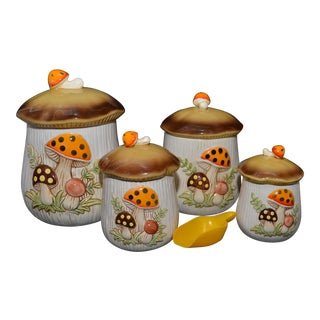 Merry Mushrooms Canisters - Set of 4