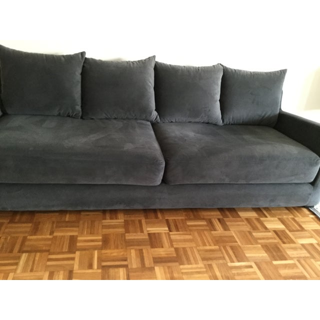 Gray Gus* Modern Flipside Velvet Sofa For Sale - Image 8 of 10