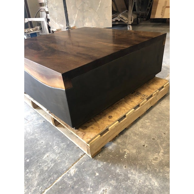 Contemporary Organic Modern Folded Live Edge Coffee Table For Sale - Image 3 of 6