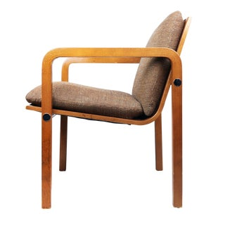 Thonet Upholstered Bentwood Armchair For Sale