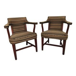 Mid Century Myrtle Desk Co. Salon Chairs - A Pair