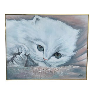 Mid Century Lee Reynolds Kitten Painting For Sale