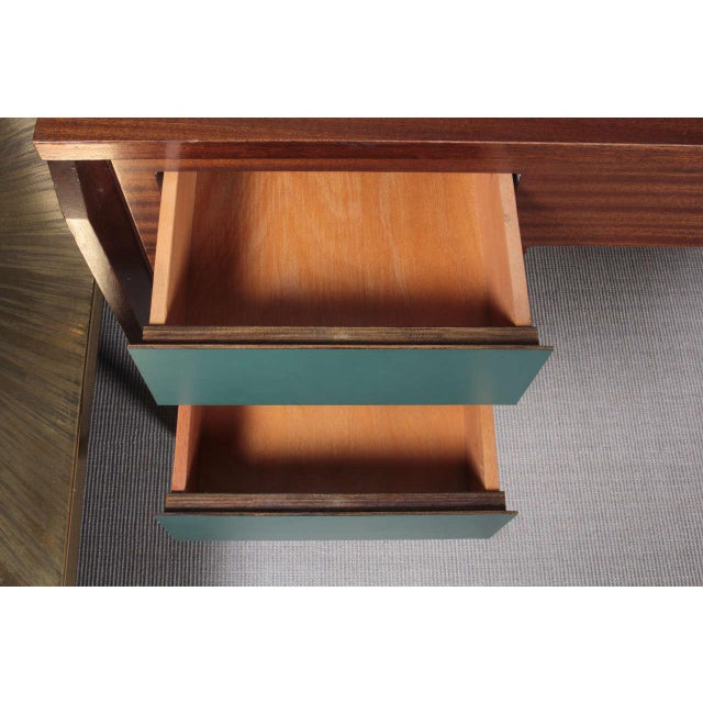 1950s 1950s Italian Desk attributed to Gio Ponti For Sale - Image 5 of 9