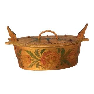 Antique Swedish Handmade Bentwood Box