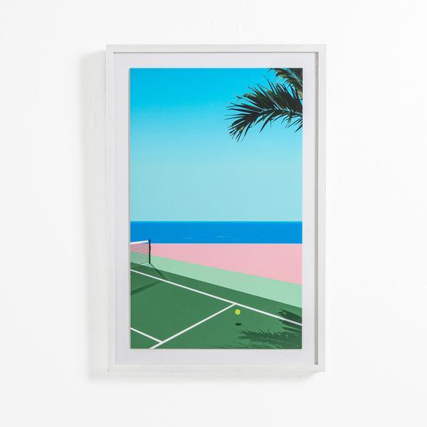 Seaside Tennis Print by Teague Studios, Framed For Sale - Image 4 of 4