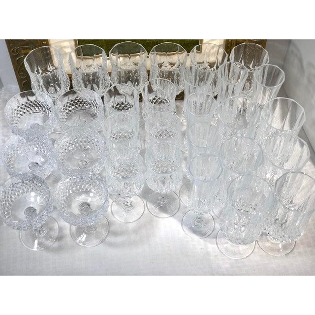 Cristal d'Arques Durand Longchamp 5 Pc. Place Setting - 6 Sets / 30 Total Pieces For Sale In Phoenix - Image 6 of 10