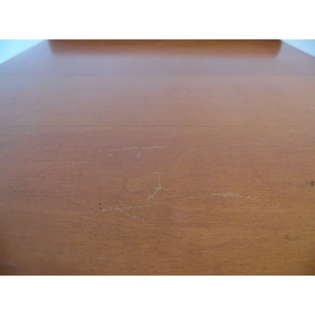 Mid- Century Wood Light Brown Color Bench - Image 9 of 11