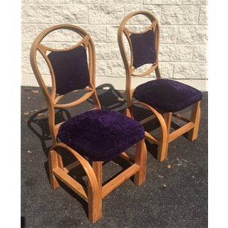 Art Nouveau Arts and Craft Danish Mid Century Art Deco Side Chairs - Set of 2 Preview