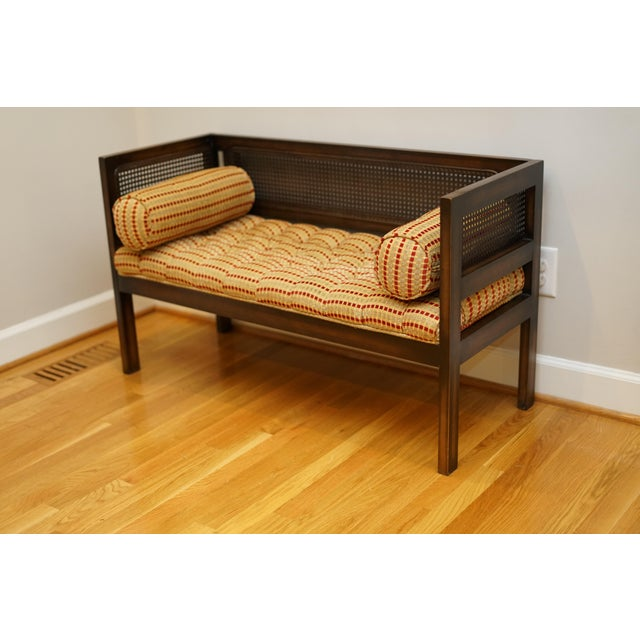 Mid-Century Modern Lewitte's Cane Settee For Sale - Image 4 of 11