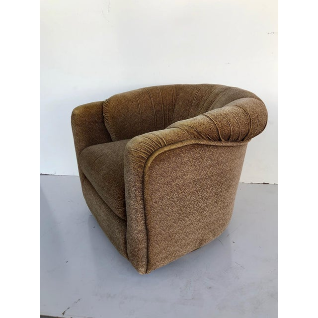 Mid-Century Modern Vintage 1970s Milo Baughman Swivel Chairs - a Pair For Sale - Image 3 of 9