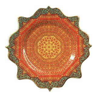 "l'Objet ""Tabriz"" Collection Porcelain Decalcomanie Dessert Plate"