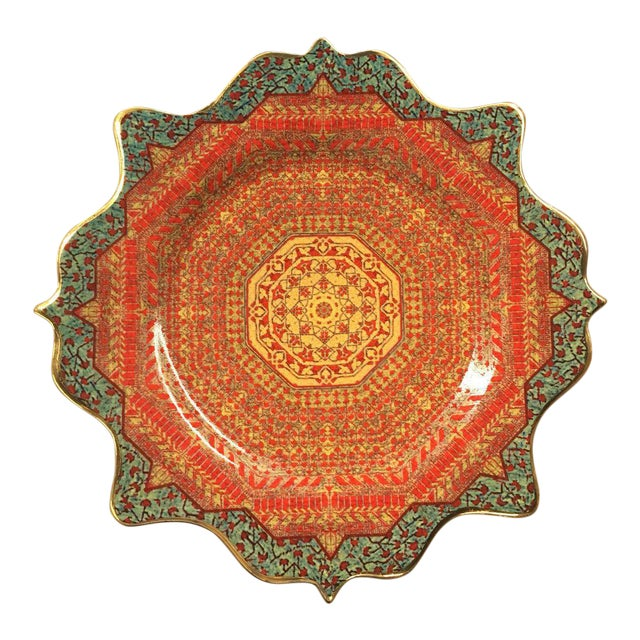 "l'Objet ""Tabriz"" Collection Porcelain Decalcomanie Dessert Plate For Sale"