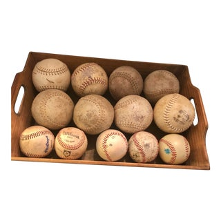 Assorted Size Decorative Softballs - Set of 13 For Sale