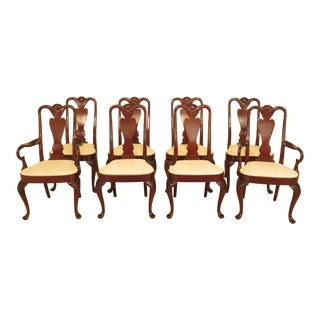 Early 21st Century Hickory Chair Co Queen Anne Mahogany Dining Chairs- Set of 8 For Sale