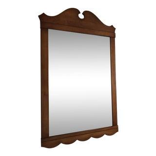 Whitney Heirloom Pediment Scalloped Solid Walnut Mirror