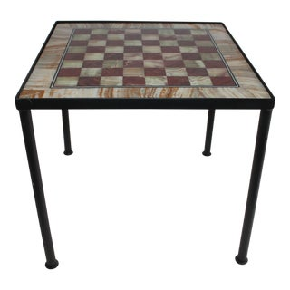 1940's Marble Gaming Table W/Custome Made Frame