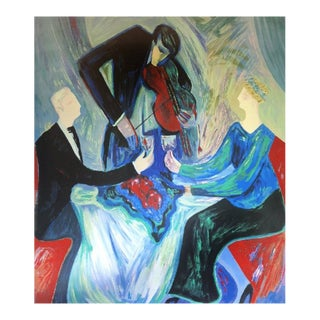 """""""Dinner for Two 2001"""" Limited Edition Seriolithograph By Barbara A. Wood For Sale"""