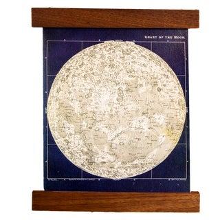 Navy and Ivory Mini Moon Chart Art Print Canvas