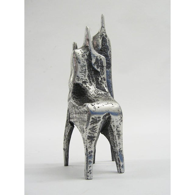 Abstract Aluminum sculpture by Aharon Bezalel For Sale - Image 3 of 8