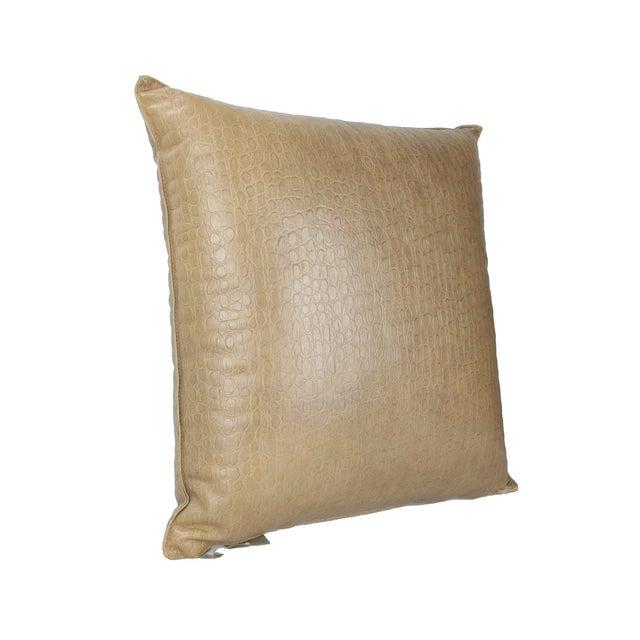 Contemporary Original Armani Casa Leather Pillow For Sale - Image 3 of 8