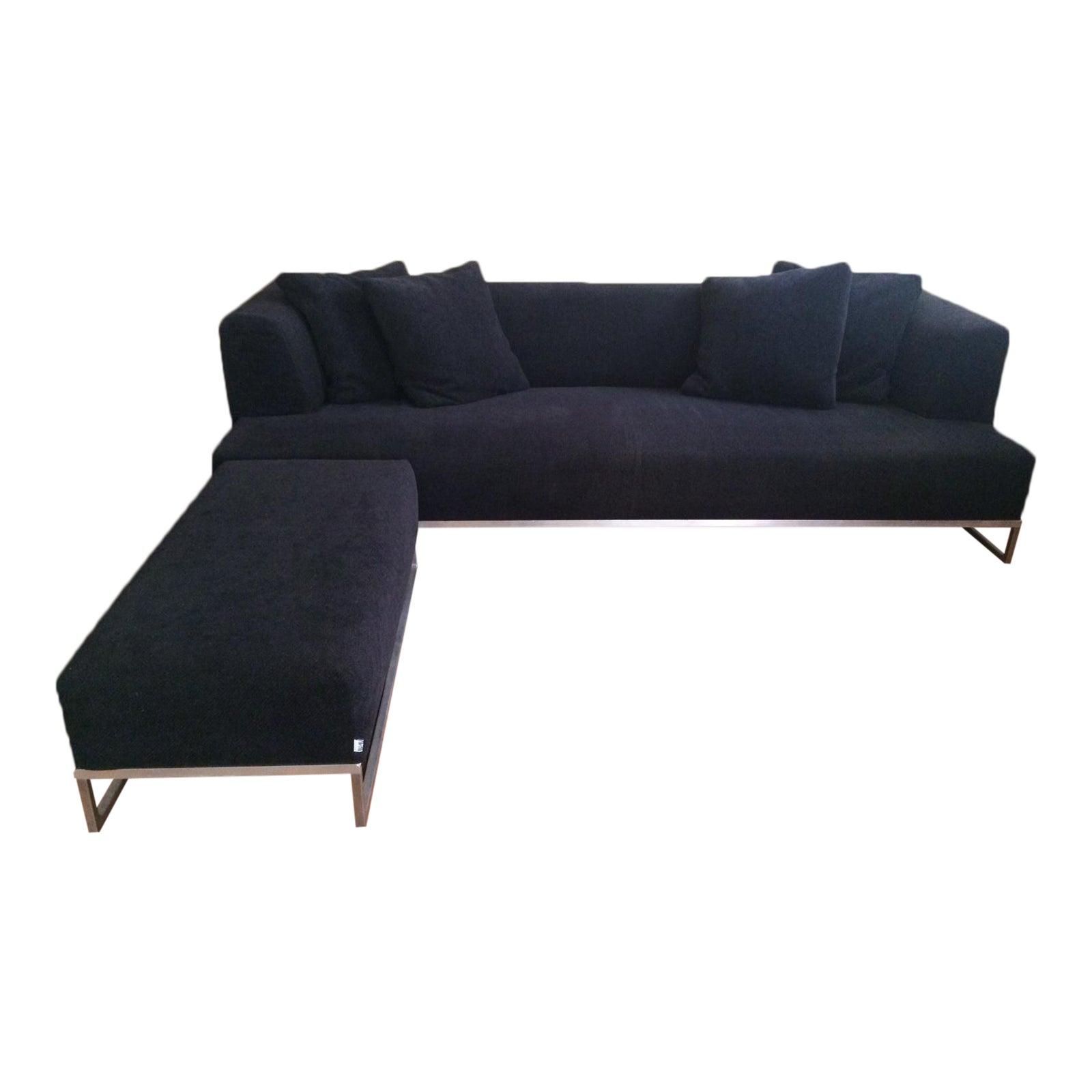 B&B Italia Max Alto Solo Sofa With Ottoman By Antonio