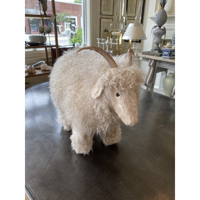 Genuine Sheepskin Ottoman in the Manner of Claude Lalanne For Sale - Image 10 of 10
