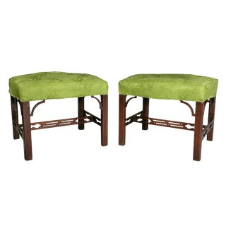 Pair of George III Mahogany Footstools For Sale