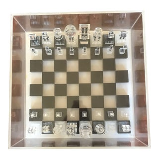 1960's Vintage Lucite Chess Set For Sale