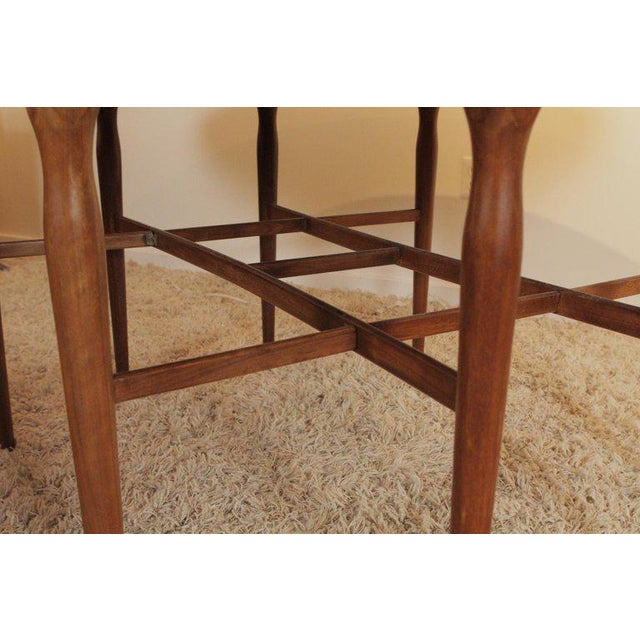 1960s Mid-Century Modern Walnut Drop-Leaf Dining Console Table For Sale In Philadelphia - Image 6 of 10