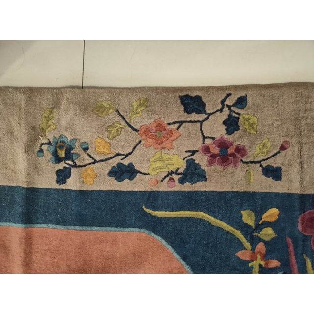 """1920s Antique Chinese Art Deco 8'2"""" X 9'9"""" For Sale - Image 5 of 6"""