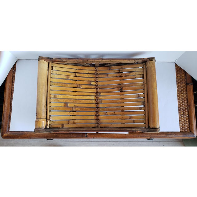 Small Bamboo Decorative Tray For Sale - Image 4 of 5