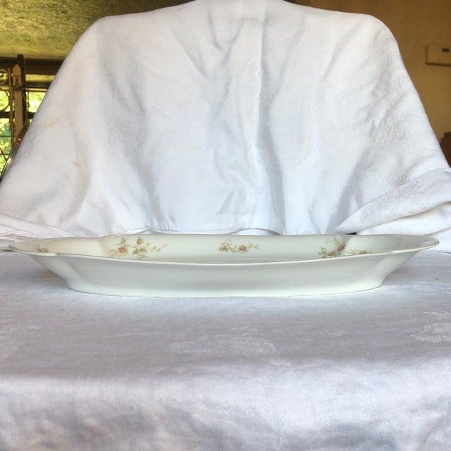 Ceramic 1920's Antique Haviland Limoges Long Serving Tray Platter For Sale - Image 7 of 9