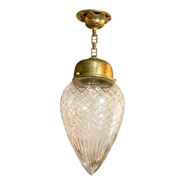 Antique Cut-Glass Pendant For Sale