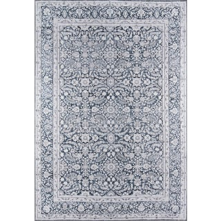 "Momeni Afshar Polyester Charcoal Area Rug - 7'6"" X 9'6"" For Sale"