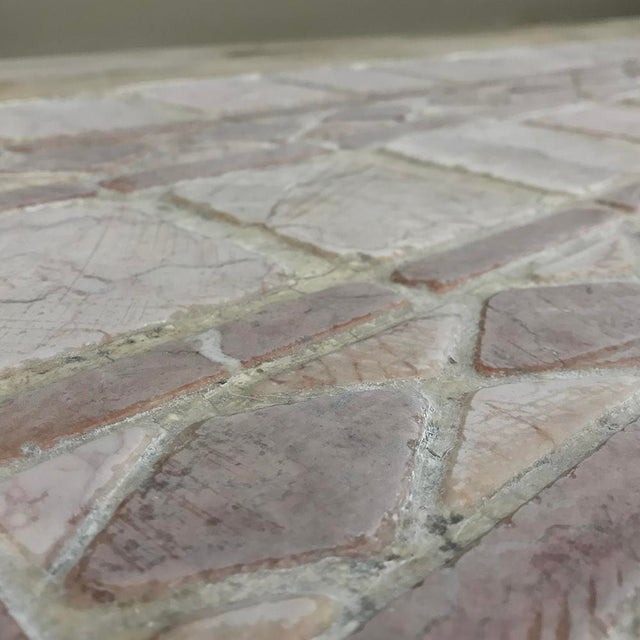 19th Century Spanish Table With Marble Tiles For Sale - Image 9 of 11