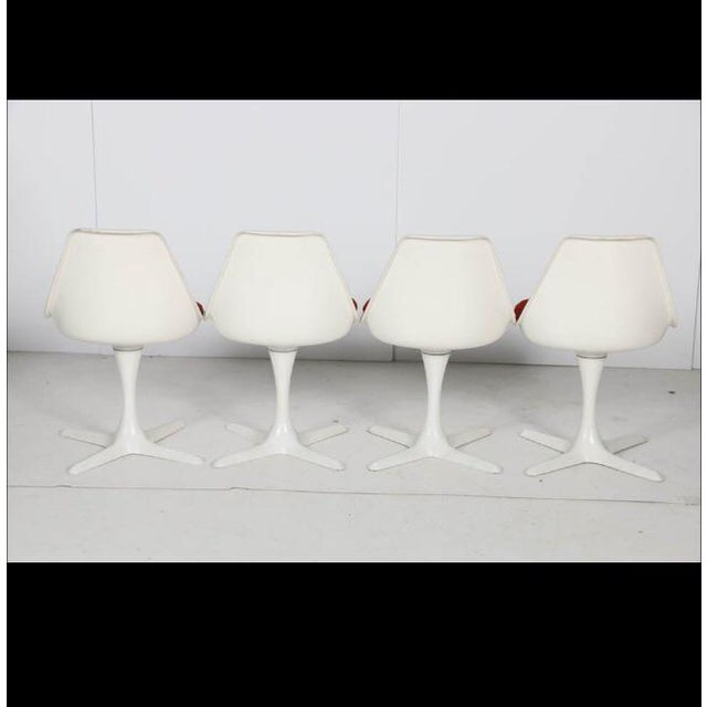 Mid-Century Modern Vintage Burke Swivel Chairs - Set of 4 For Sale - Image 3 of 5