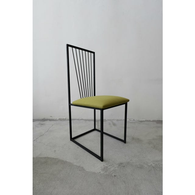 Metal Set of 6 Postmodern Memphis Milano Minimalist Style Dining Chairs For Sale - Image 7 of 10